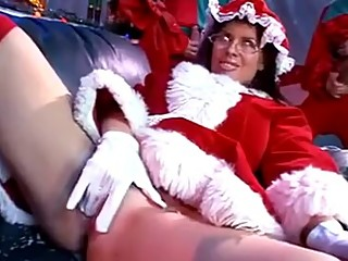Santa Claus's horny wife gangbanged by elves
