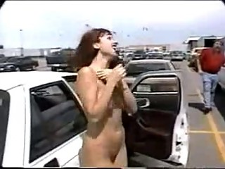 Filthy wife for best friend in the parking lot