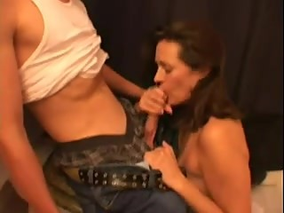Wife sucking an other while hubby films