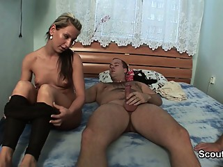 Young Teen Couple need Money - Cuckold while girl fuck